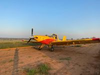 First plane to land on Makgoro Lodge Runway
